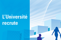 L'Université recrute