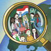 Different kinds of people and a luxembourgish flag in a magnifying glass