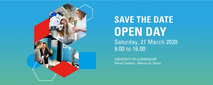 Save the Date Open Day 2020