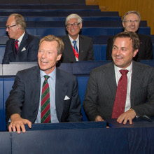 His Royal Highness Grand-Duke Henri & Prime Minister Xavier Bettel © Université du Luxembourg - Michel Brumat