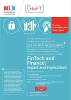 3x3 FinTech Lecture Series - FinTech and Finance: Impact and